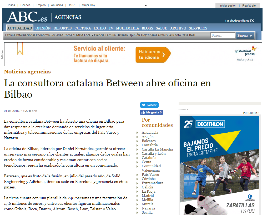 Noticia ABC oficina Bilbao between
