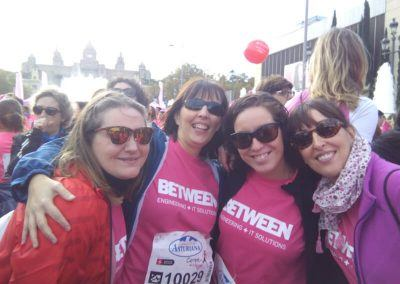 Runners Betweeners en al Carrera de la Mujer de Barcelona