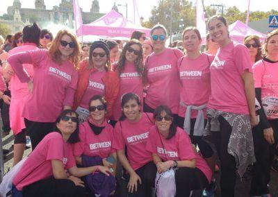 Betweeners en la Carrera de la Mujer en Barcelona