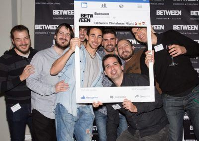Equipo Lab en el fotocall de la Between Night Barcelona 2017 Christmas
