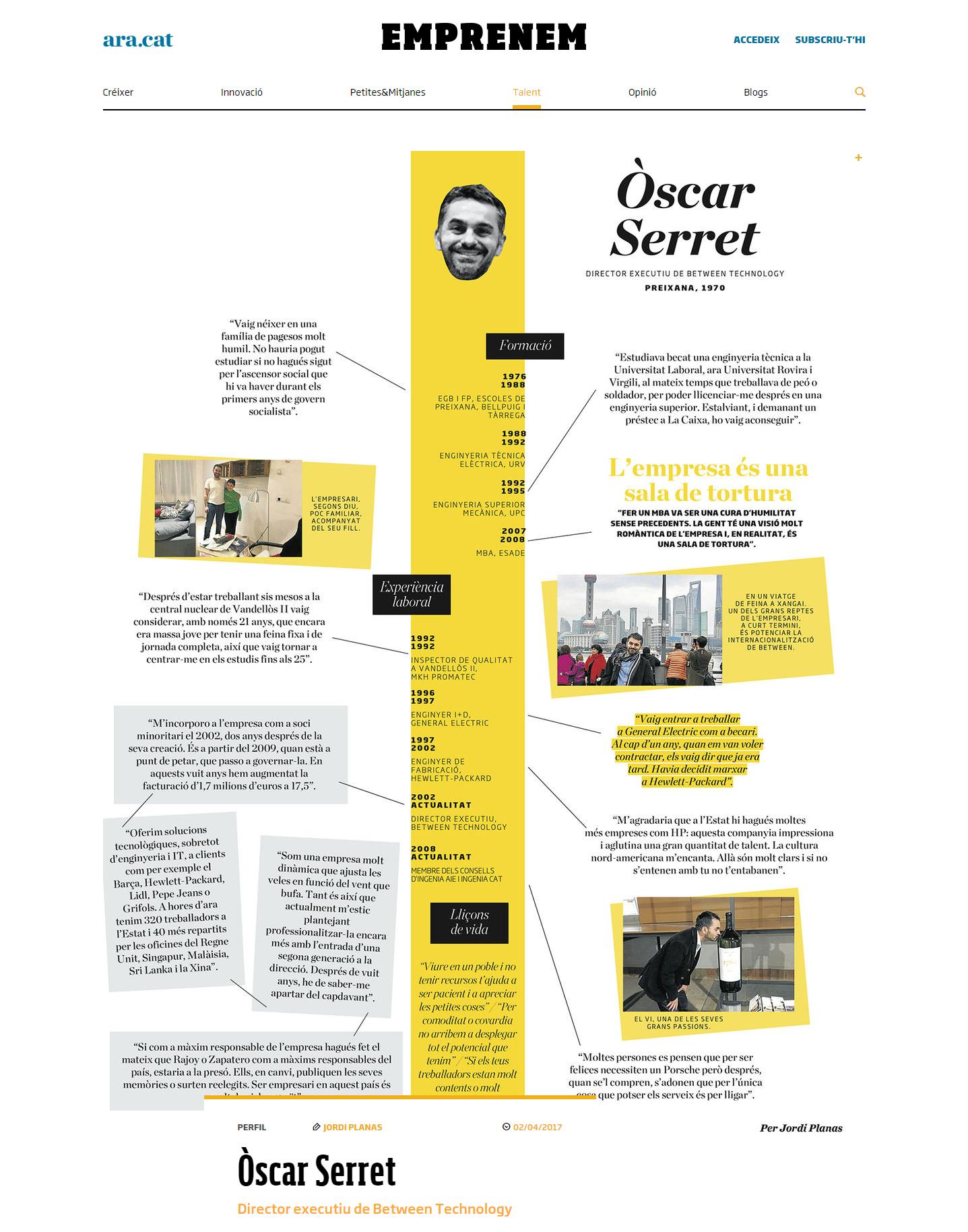 Entrevista a Oscar Serret captura de pantalla