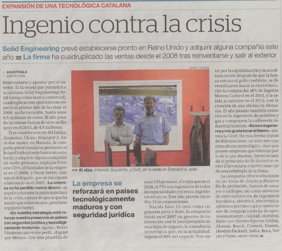 El Periodico news clipping