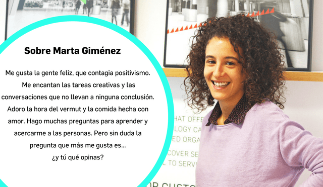 Conoce a Marta Giménez de Recursos Humanos Internos