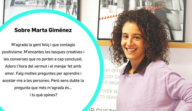 Coneix a Marta Gimenes