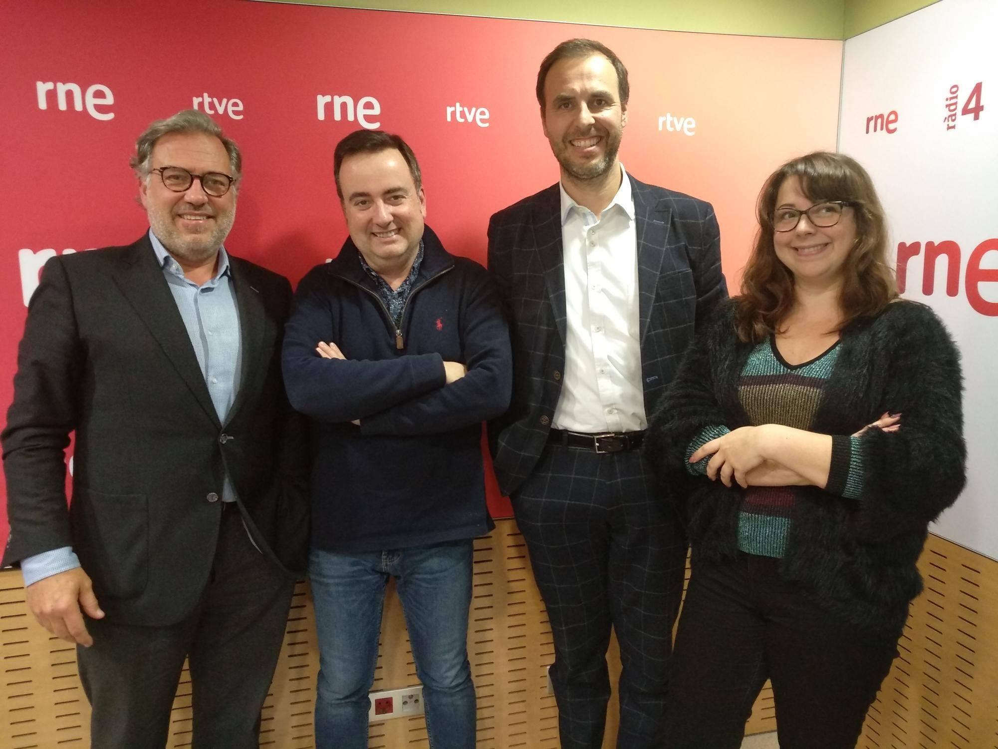 De izquierda a derecha: Ignasi Rafel, Xavier Collado. Pau Guarro y Arantxa Juan.