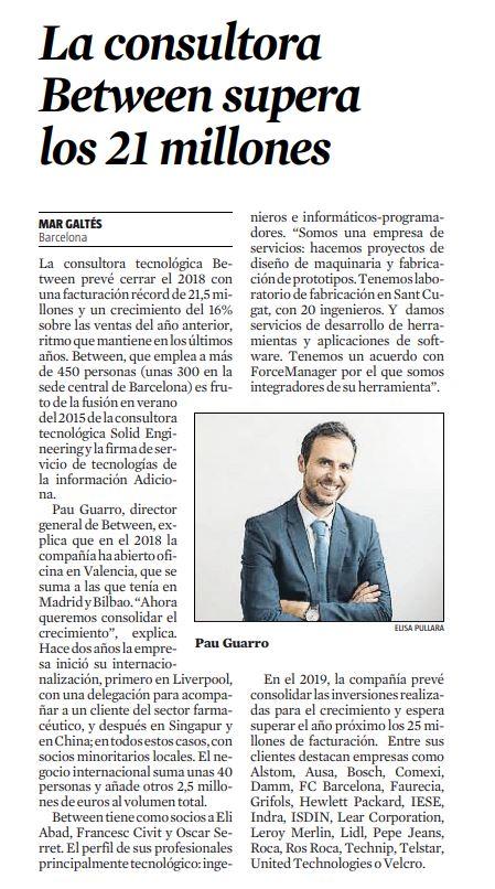 La Vanguardia - Entrevista Pau Guarro